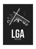 LGA New York Airport Black