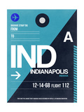 IND Indianapolis Luggage Tag 2