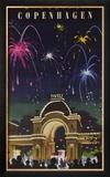 Wonderful Copenhagen  Tivoli Garden Travel Poster