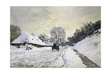 The Cart  or Road under Snow at Honfleur