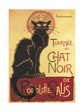 Poster for 'Chat Noir Cabaret' Founded by Rodolphe Salis