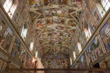 The Sistine Chapel by Michelangelo in the Vatican Museums  Rome  Lazio  Italy  Europe