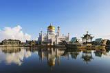 Omar Ali Saifuddien Mosque  Bandar Seri Begawan  Brunei  Borneo  Southeast Asia