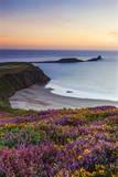 Rhossili Bay  Worms End  Gower Peninsula  Wales  United Kingdom  Europe
