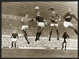 Manchester United vs Arsenal  Football Match at Old Trafford  October 1967