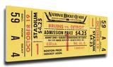Bobby Orr First NHL Game Mega Ticket - Boston Bruins
