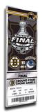 2011 NHL Stanley Cup Final Commemorative Mega Ticket - Boston Bruins