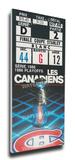 1986 NHL Stanley Cup Mega Ticket - Montreal Canadiens