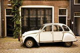 Vintage Citroen on a Street in Amsterdam  Netherlands