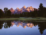 USA  Wyoming  Grand Teton Grand Tetons Reflect in Snake River