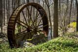 USA  New Jersey  Hunterdon County Old Waterwheel by Rockaway Creek