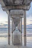 USA, California, La Jolla, Scripps Pier Papier Photo par Rob Tilley