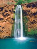 USA  Arizona  Havasupai Reservation Mooney Falls in the Grand Canyon