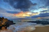 Sunset over Secret Beach at Makena on Maui