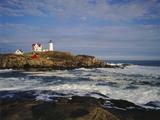 Heavy Surf Near Cape Neddick Lighthouse