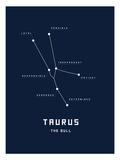 Astrology Chart Taurus Reproduction d'art
