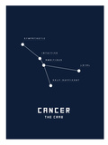 Astrology Chart Cancer Reproduction d'art
