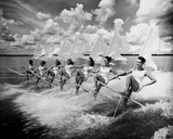 Water Ski Parade Giclée par The Chelsea Collection