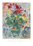 Grand Bouquet de Renoncules, 1968 Reproduction d'art par Marc Chagall