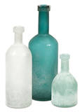 Russell Handblown Frosted Bottle Trio