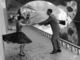 Rock 'n' Roll Dancers on Quays of Paris  River Seine  1950s