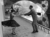 Rock 'n' Roll Dancers on Quays of Paris  River Seine  1950s