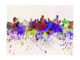 Bogota Skyline in Watercolor Background Reproduction d'art par Paulrommer