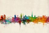 Newcastle England Skyline Giclée premium par Michael Tompsett