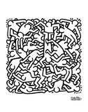 Party of Life Invitation, 1986 Reproduction d'art par Keith Haring