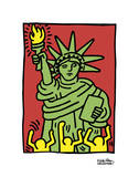 Statue of Liberty, 1986 Reproduction d'art par Keith Haring