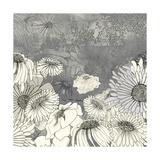 Flowers on Grey I Giclée premium par Ingrid Blixt