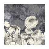 Flowers on Grey III Giclée premium par Ingrid Blixt