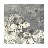 Flowers on Grey II Giclée premium par Ingrid Blixt