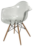 Amsterdam Transparent Chair - Grey