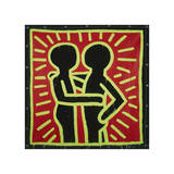 Untitled, 1982 (couple in black, red, and green) Giclée par Keith Haring