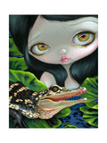 Mermaid with a Baby Alligator Reproduction d'art par Jasmine Becket-Griffith