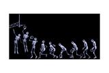 Xray of Human Skeleton Playing Basketball