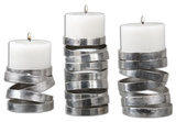 Tamaki Silver Candleholders  S/3