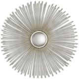 Launa Round Silver Mirror