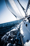 Sailboat in Action  Extreme Sport  Luxury Water Transport  Summer Vacation  Cruise in the Sea  Acti