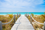 Beautiful Beach at Caribbean Providenciales Island in Turks and Caicos Papier Photo par BlueOrange Studio