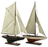 Antique Sailboat Pair