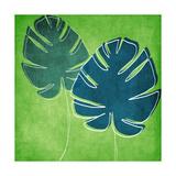 Feuilles de palmier Reproduction d'art par Linda Woods