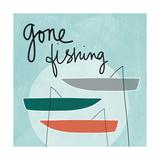 Sortie de pêche Reproduction d'art par Linda Woods