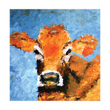 Vache Reproduction d'art par Leslie Saeta