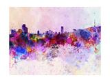 Seoul Skyline in Watercolor Background Reproduction d'art par Paulrommer