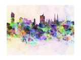 Vienna Skyline in Watercolor Background Reproduction d'art par Paulrommer