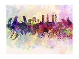 Madrid Skyline in Watercolor Background Reproduction d'art par Paulrommer