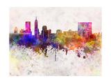 Indianapolis Skyline in Watercolor Background Reproduction d'art par Paulrommer