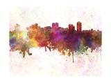 Manila Skyline in Watercolor Background
